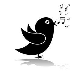 singing birds-silhouette vector image