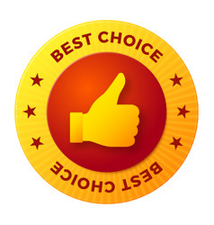 best choice label round stamp for high quality vector image