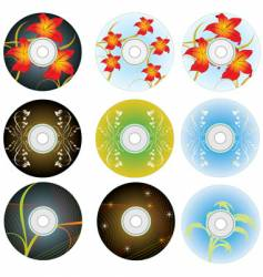 cd and dvd disks vector image vector image