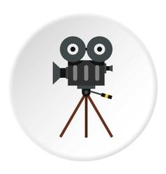 Cinema camera icon flat style vector image