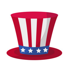 cylinder hat icon flat style 4th july concept vector image vector image