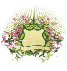 heraldry shield vector image vector image