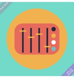 Mixing console faders - vector image