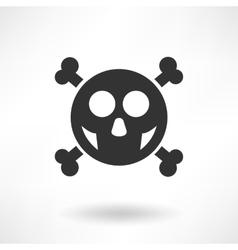 Simply Skull Icon vector image vector image