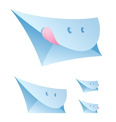 smiling envelopes vector image