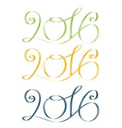 2016 green yellow blue vector image