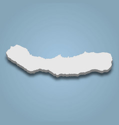 3d isometric map sao miguel is an island vector