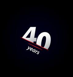 40 years anniversary celebration black and white vector