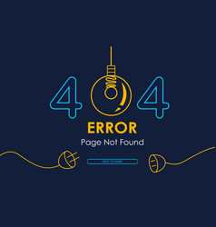 404 error page not found lamp graphic vector