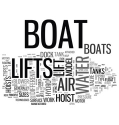 a look at how boat lifts work and the different vector image