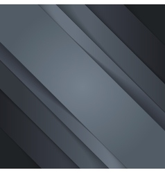 Abstract background with black paper layers vector image