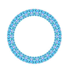 Abstract colorful polygonal wreath - circular vector