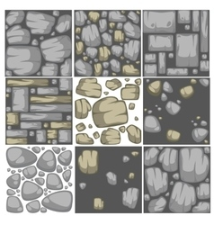 Abstract stone background set vector