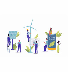 alternative clean renewable energy concept flat vector image