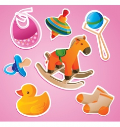 baby's toys vector image