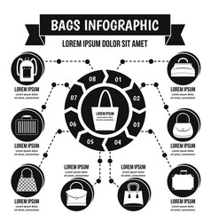 Bags infographic concept simple style vector