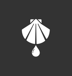 Baptism flat icon on a black background vector