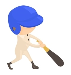 Baseball player icon cartoon style vector