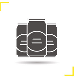 Beer cans glyph icon vector