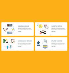 Business handshake marketing meeting vector