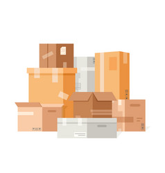 cardboard packaging boxes vector image