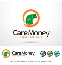 Care money logo template vector