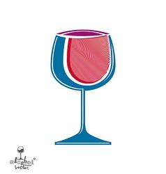 Classic pink elegant wine goblet stylish alcohol vector
