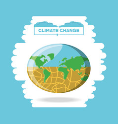 climate change design vector image