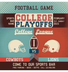 College playoffs football game vector image