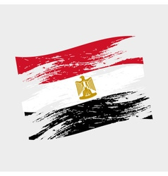 color egypt national flag grunge style eps10 vector image
