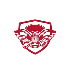 Crossed Spoon and Fork Handlebar Headlamp Crest vector