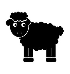 cute sheep drawing character vector image