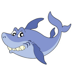cute smiling shark vector image