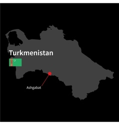 detailed map turkmenistan and capital city vector image