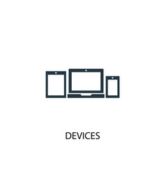 devices icon simple element devices vector image