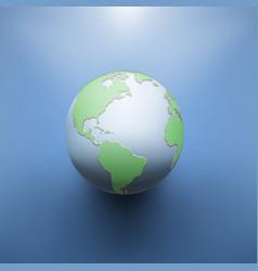 digital earth image of globe vector image