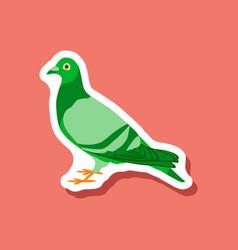 Dove paper sticker on stylish background vector