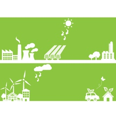 Ecology silhouettes vector