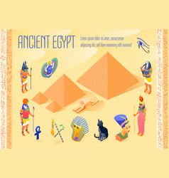 Egypt isometric poster vector