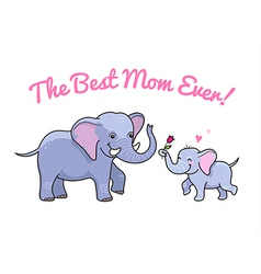 Elephant mom flower vector
