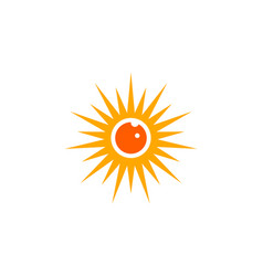 eye sun logo vector image