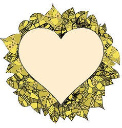 Floral Love Heart Wreath vector
