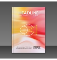 Flyer or brochure template in Modern vector image