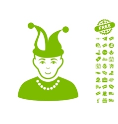 Fool Icon With Free Bonus vector
