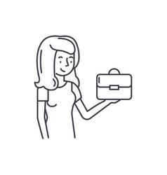 franchise for women line icon concept franchise vector image