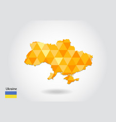 geometric polygonal style map of ukraine low poly vector image
