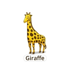 giraffe african savannah animal cartoon vector image
