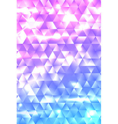glowing geometric gradient triangle background vector image