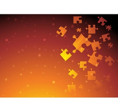 golden puzzle vector image