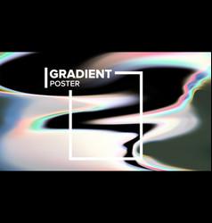 Gradient fluid background futuristic flyer vector